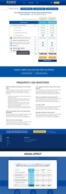 Designing the buy page for www.e-gmat.com , the fastest growing company in the GMAT test prep space. by jaysonc