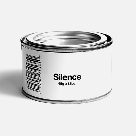 Beschrijving: If you could only give people one of these and they would just shut up for the day. 45 Grams of pure silence. Bron: tumblr & the fancy (http://www.thefancy.com/things/254231121/Canned-silence---rare-found-product)