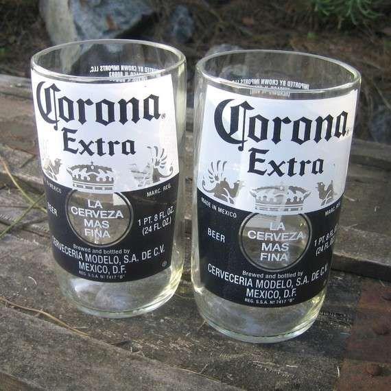 Cool Ideas for Empty Liquor Bottles | Bottle Glasses - Bottlehood Recycles Wine, Beer and Liquor Bottles ...