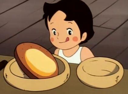 名作 アルプスの少女ハイジのチーズ。おいしそう!