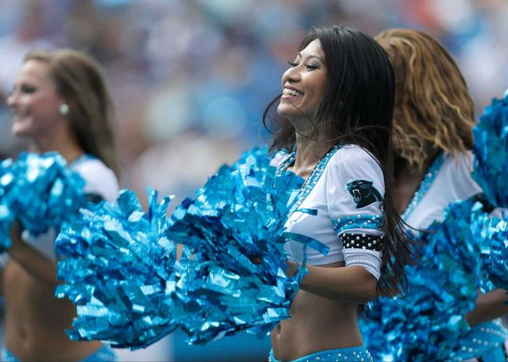 Carolina Panthers cheerleaders perform in the first half of an NFL football game in Charlotte, N.C., Sunday, Sept. 25, 2016. (AP Photo/Bob Leverone) Photo: Bob Leverone, Associated Press / FR170480 AP