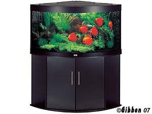 453961: Akvarium Svart Trigon 350 Juwel