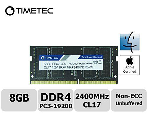 nice Timetec Hynix IC 8GB DDR4 2400MHz PC4-19200 Unbuffered Non-ECC B.2V CL17 2Rx8 Dual Rank 260 Pin SODIMM Laptop Notebook Computer Memory RAM Module Upgrade (8GB)