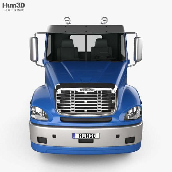 3d Model Of Freightliner Columbia Chassis Truck 4 Axle 2018 Freightliner Trucks 3d Model