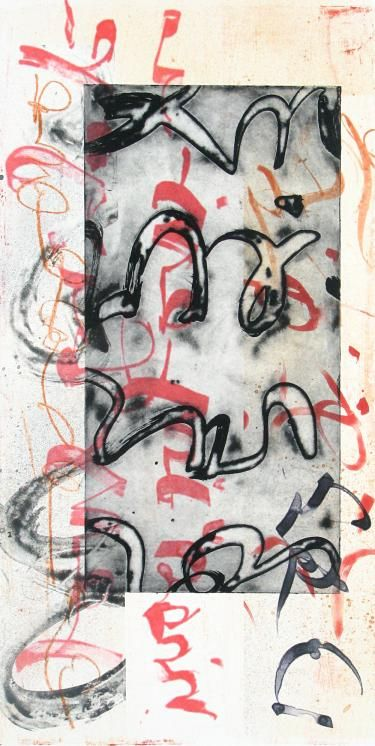 """Scriptograph #10, 2012, watercolor from vellum and mat board, 27"""" x 17"""""""