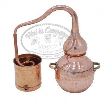 www.viviincampagna.it - Alambicco distillatore in rame da lt.0,75