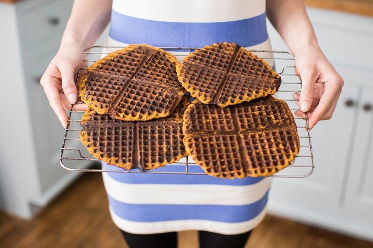 Sweet potatoe waffles - Alien seas