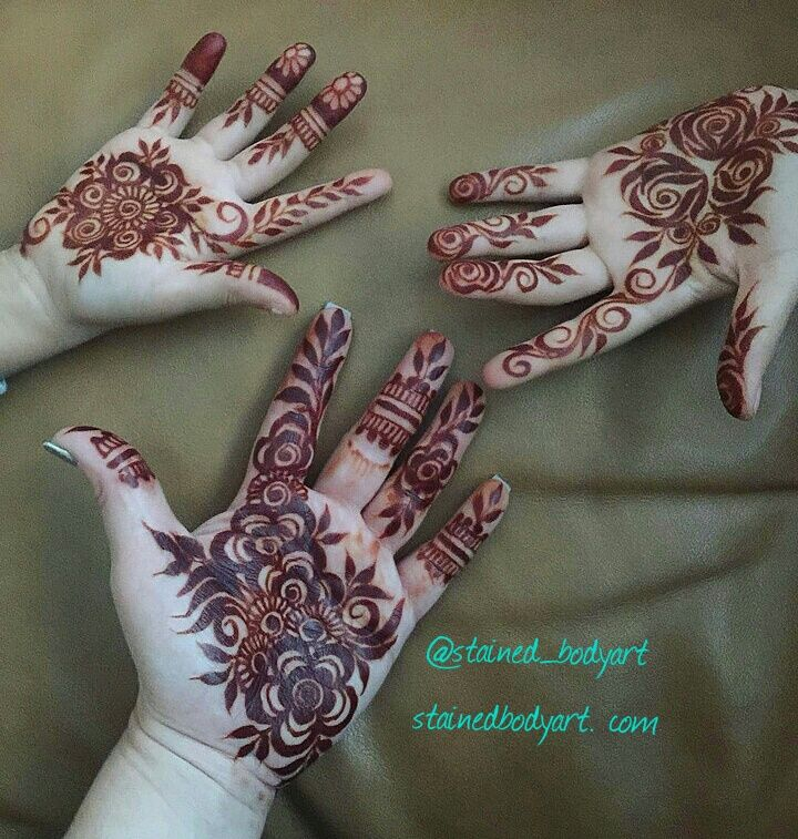 henna stains from natural henna