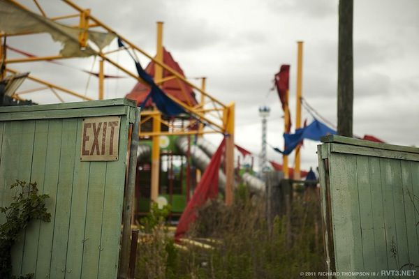 Six Flags New Orleans- abandoned since 2005