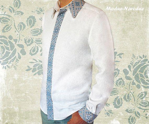 hand embroidered linen men shirt #0004, ethnic clothing, vyshyvanka, custom embroidered shirt, dress shirt, free shipping, tee shirt, shirt