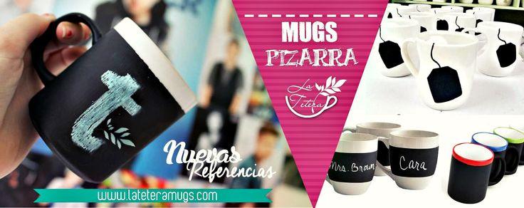 mugs pizarra disponibles!! www.lateteramugs.com