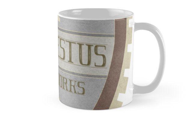 Hephaestus Forge Works retro logo Coffee Mug by AnMGoug on Redbubble. #mug #blacksmith #mythology