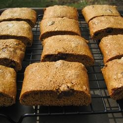 hermits - there are a lot of recipes out there, this one is correct as far as I'm concerned: it has molasses, shortening, coffee and raisins but not nuts, and is baked in strips (never dropped on a sheet!). now, to make gluten-free...