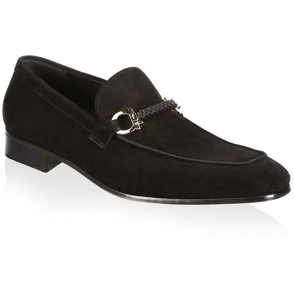 Salvatore Ferragamo Cross Suede Loafers (2.480 BRL) ❤ liked on Polyvore featuring men's fashion, men's shoes, men's loafers, salvatore ferragamo mens shoes, suede loafers mens shoes, mens suede slip on shoes, mens suede loafers and mens loafer shoes