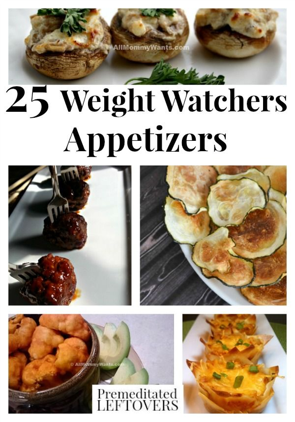 25 Weight Watchers Appetizers Recipes with points - A collection of delicious appetizer recipe ideas that are perfect for Weight Watchers friendly entertaining. Great variety of recipes perfect for all occasions from cocktail parties to football parties.