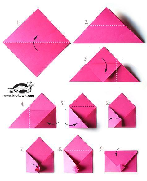 Création enveloppe origami - Pediakid                                                                                                                                                                                 Plus