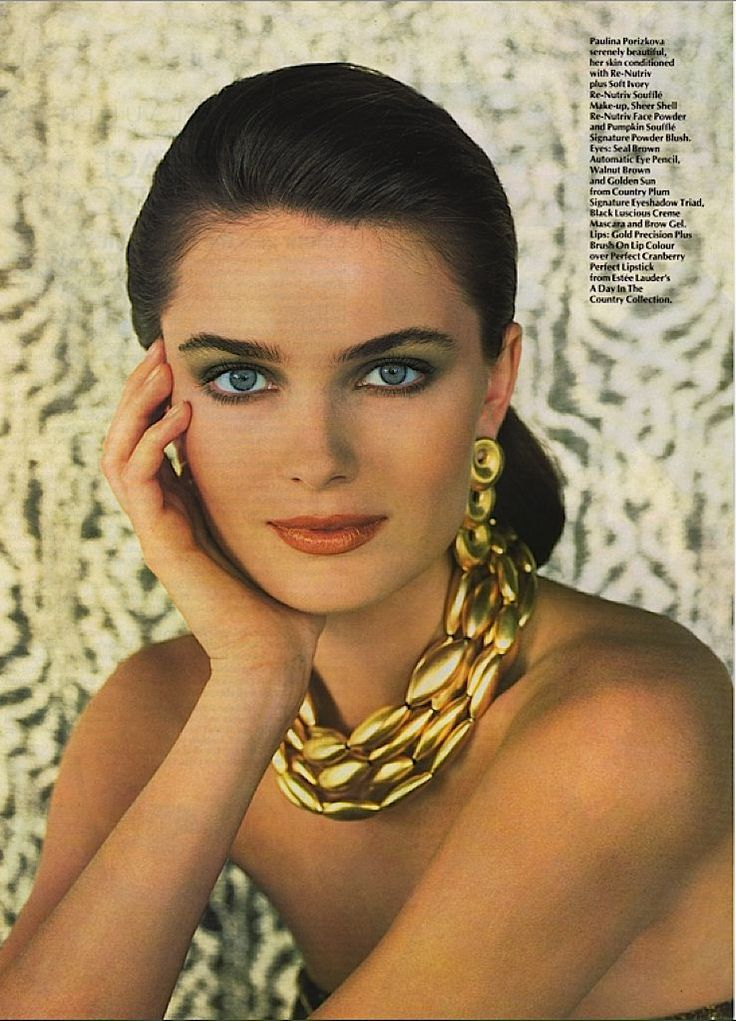 Paulina Porizkova for Vogue UK, October 1989