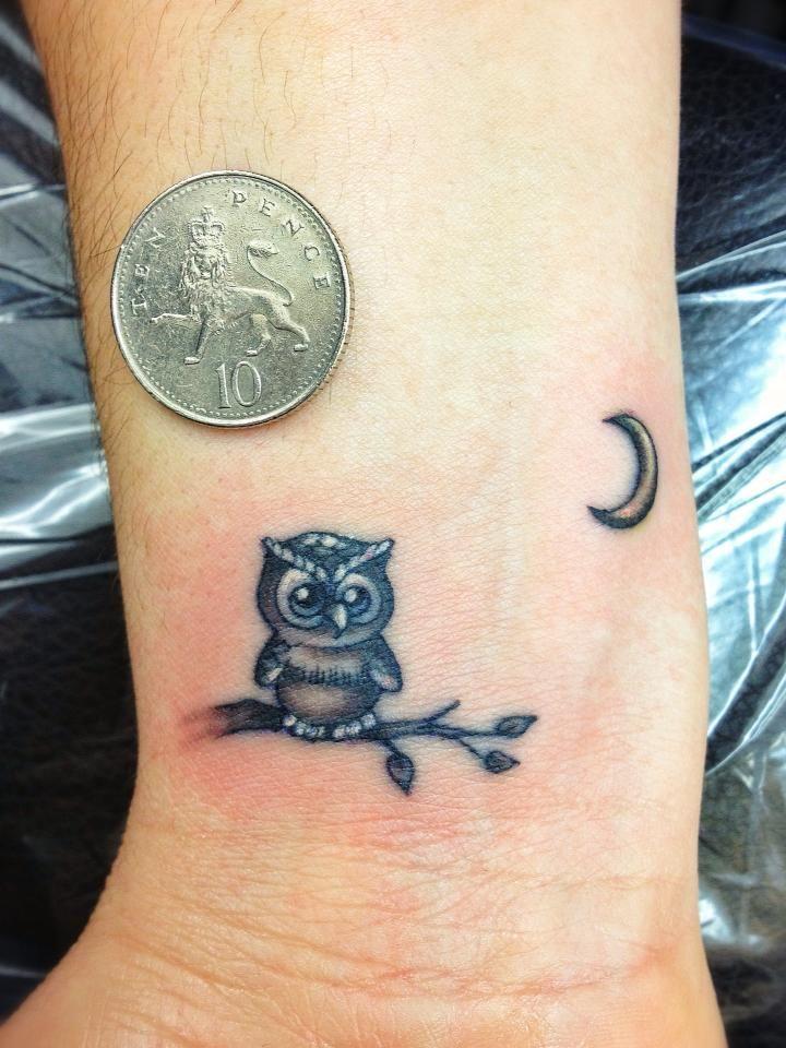 cute small owl tattoos Car Tuning
