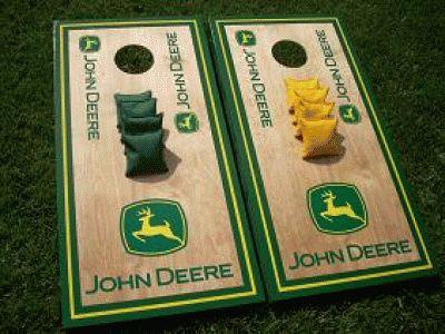 John Deere Cornhole Boards and Bags Set