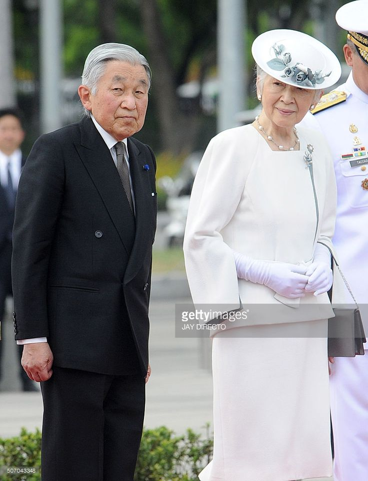 Japan's Emperor Akihito (L) and Empress Michiko attend a wreath laying ceremony…