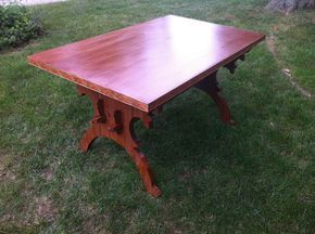 """A Trestle Table for Under $35: """"How I Built a 15th-Century-Style Table for Pennsic From an Old Door and Pine Boards how to guide"""""""
