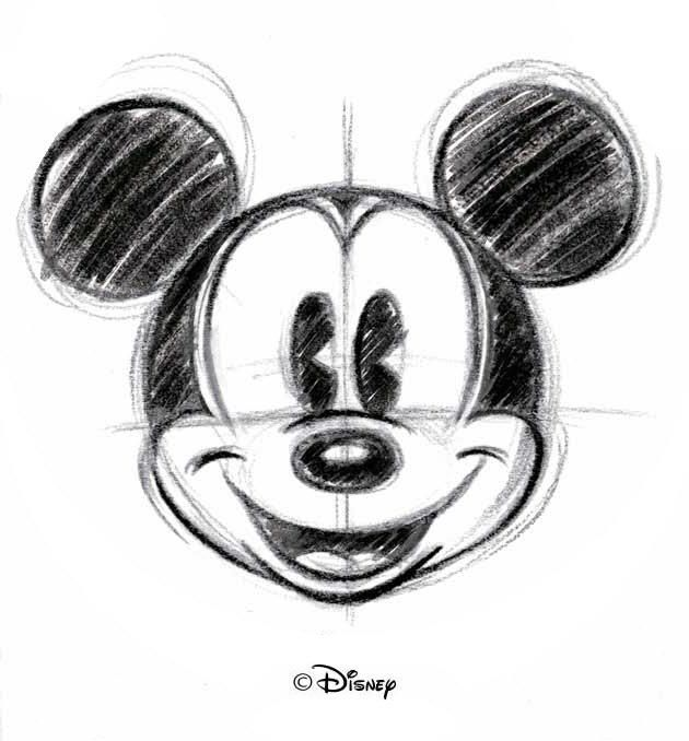 mickey mouse as pattern for a cut out shirt in shape of mouse ears, just to check proportions for it :)