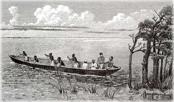 Отступая, Нил оставляет на своих берегах много воды, образующей болота. Там в изобилии произрастает тростник, папирус, растут цветы и прочие водолюбивые растения. Чем ближе к морю, тем больше болот....