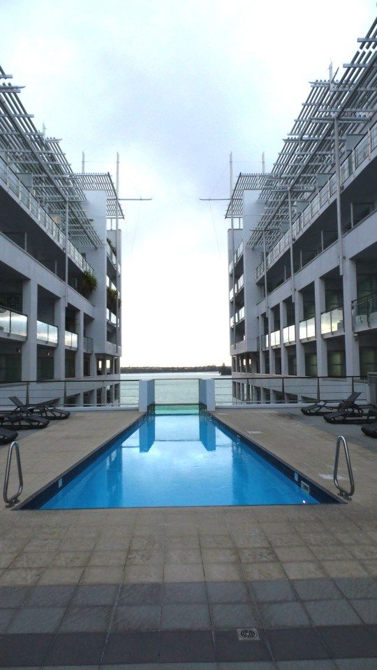 Pool at Hilton Auckland, New Zealand
