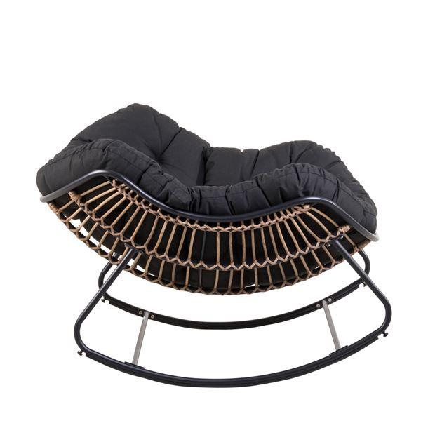 ROCKO Chaise à bascule noir H 83 x Larg. 114 x P 96 cm_rocko