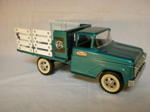 Tonka Stake Truck 1959 Vintage Toy Farm Truck by PaperCrownToys