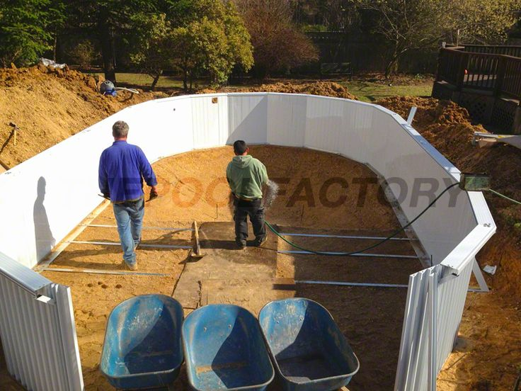 61 best above ground pool installation images on pinterest for Above ground swimming pool manufacturers