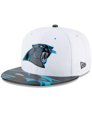New Era Boys' Carolina Panthers 2017 Draft 59FIFTY Cap - White/Black 6 3/8