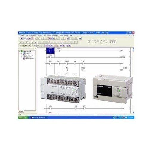 Programming Software GX DEV FX 8.25 1000 steps, ladder logic training course lessons