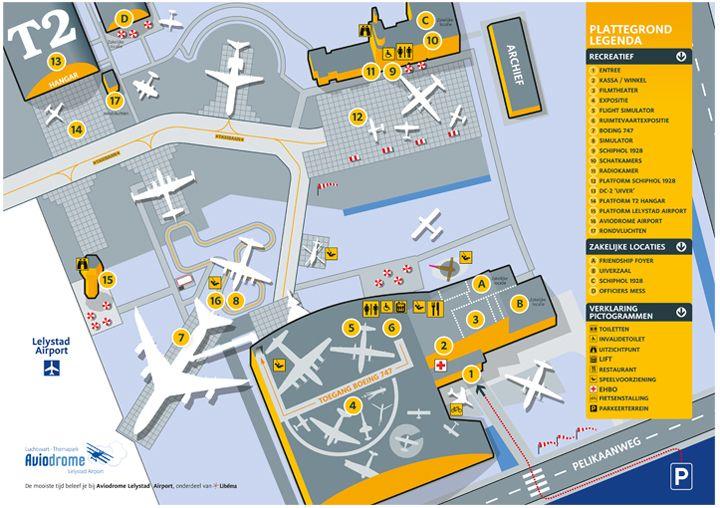 Plattegrond - Aviodrome - Luchtvaart themapark