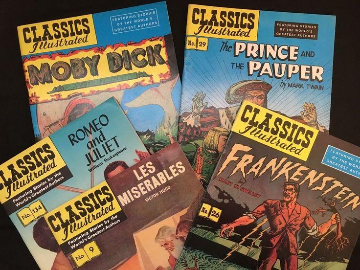 Classics Illustrated: Set of 5 Comic Books - Frankenstein, Les Miserables & More in Books, Magazines, Comic Books | eBay!