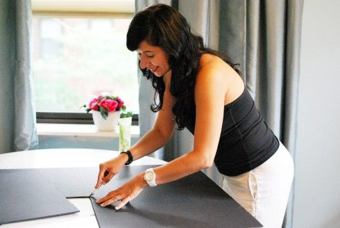 interior design presentation board | furniture photos and room layouts how Ada Gonzalez preps boards
