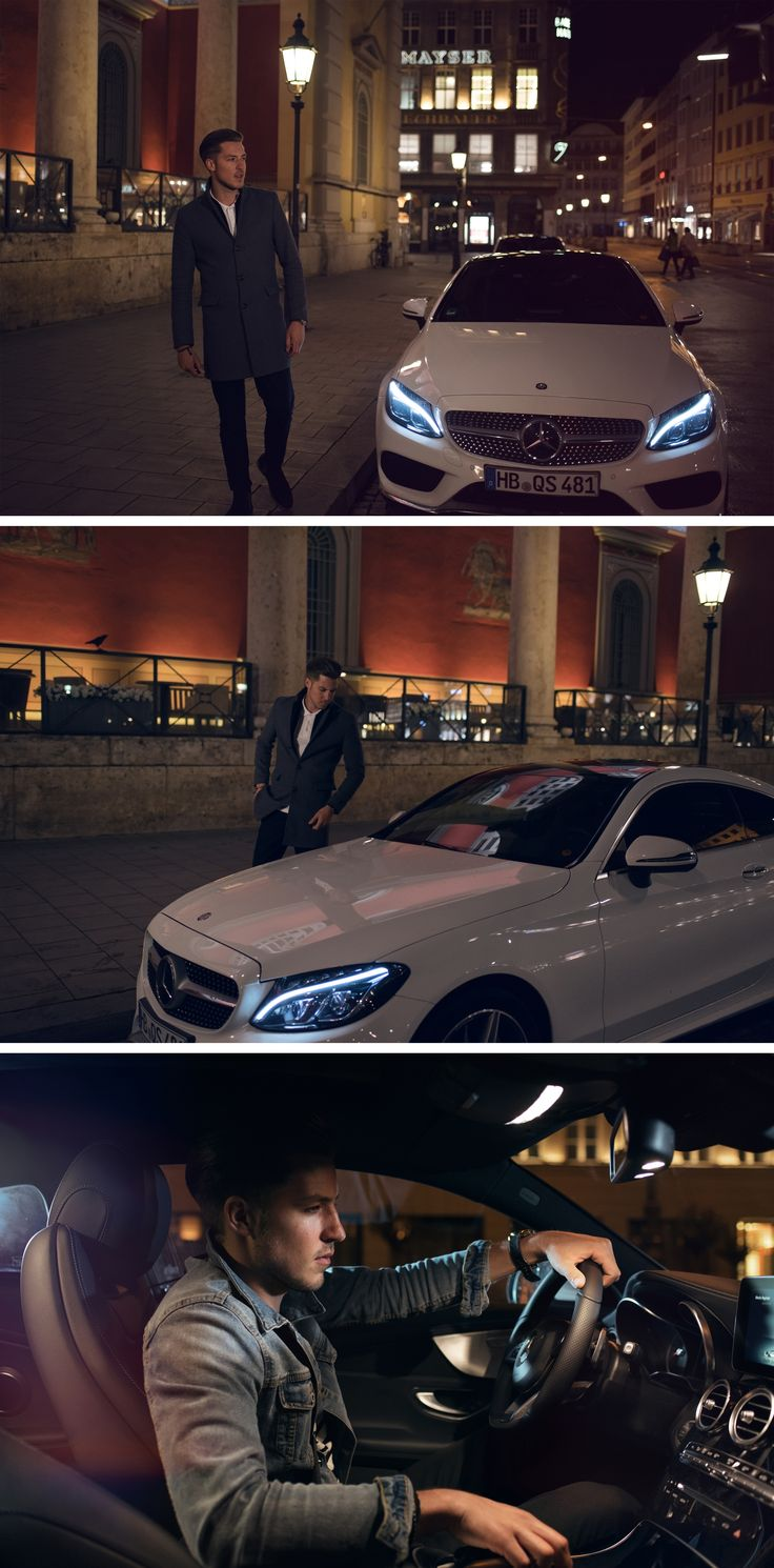 The new mercedes benz c class coup cuts a fine figure on the road