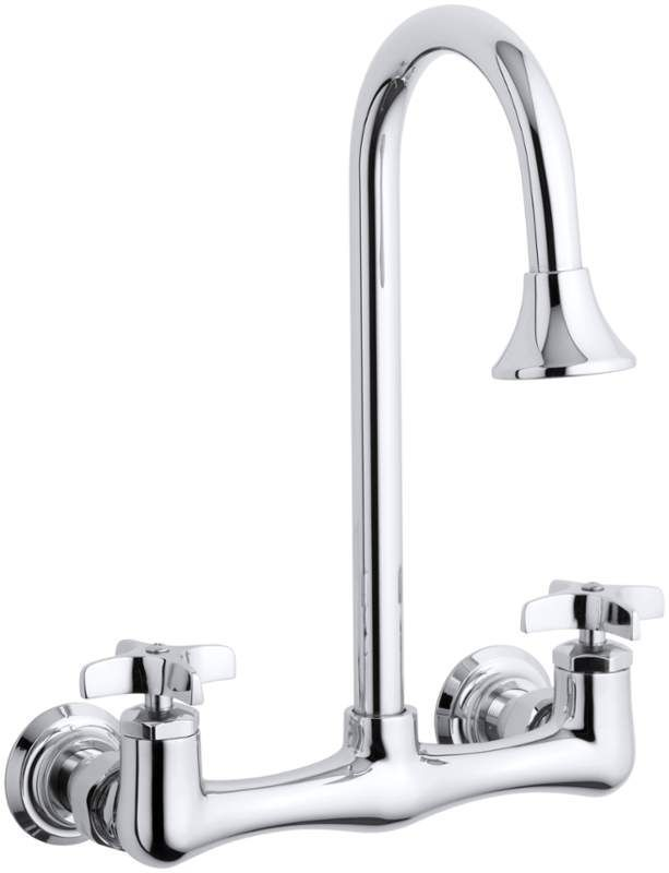 Kohler K-7319-3 Triton utility sink faucet with cross handles Polished Chrome Faucet Laundry Double Handle