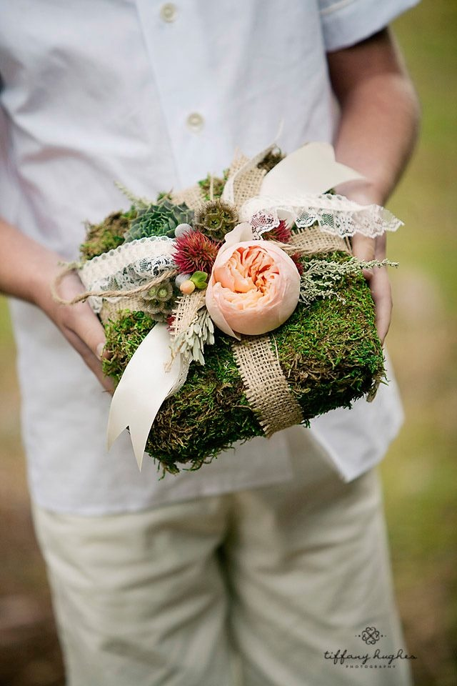 Moss ring bearer pillow!