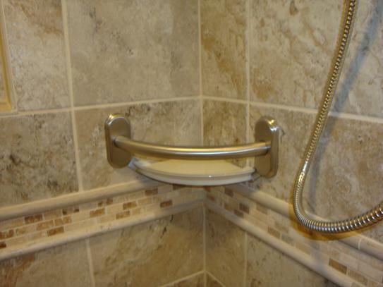 Best Grab Bars Images On Pinterest Handicap Bathroom - Brushed nickel grab bars for bathrooms for bathroom decor ideas