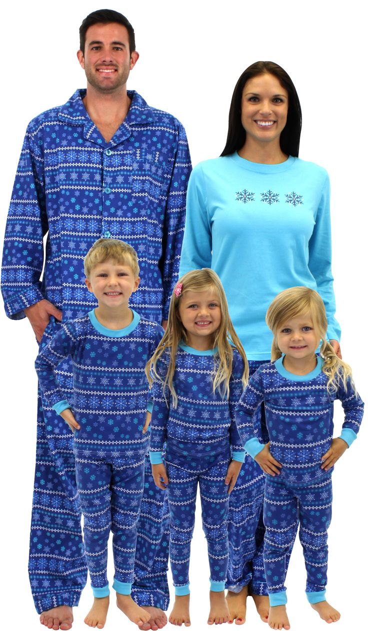 Check out these fun matching pajamas for the whole family.