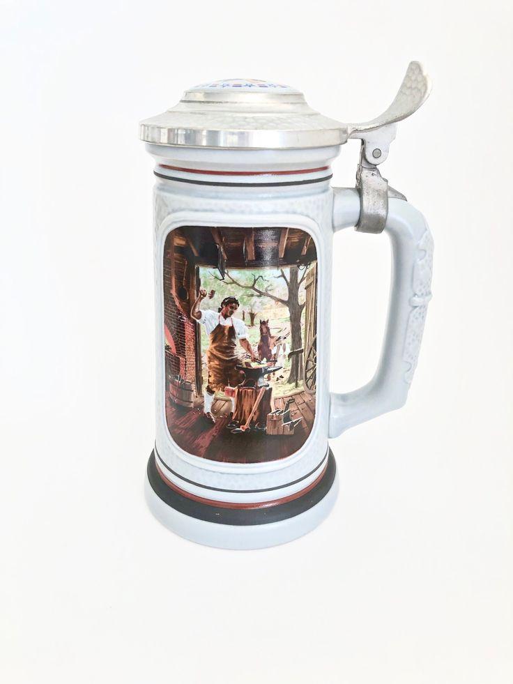 Avon the blacksmith beer stein first issue ltd edition
