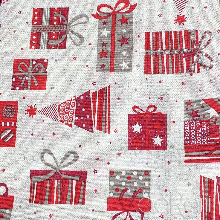 Tessuto a Metro h280 Pacchi regalo Albero Di Natale Stoffa Decori Tovaglia Neve