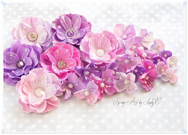 Foamiran Flowers & Birthday Set / Kwiaty z Foamiranu i Komplet Urodzinowy