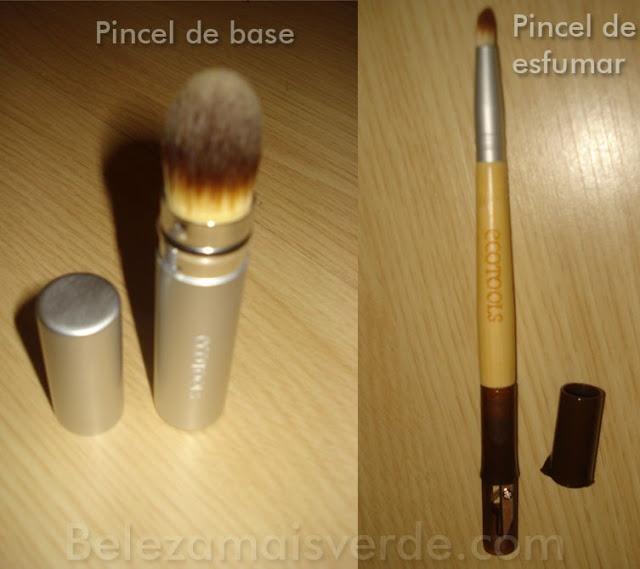 Pincéis de maquiagem ecotools, cruelty free.