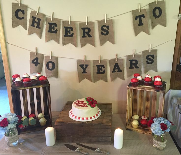 Best 25 ruby wedding anniversary ideas on pinterest for 40 birthday decoration ideas