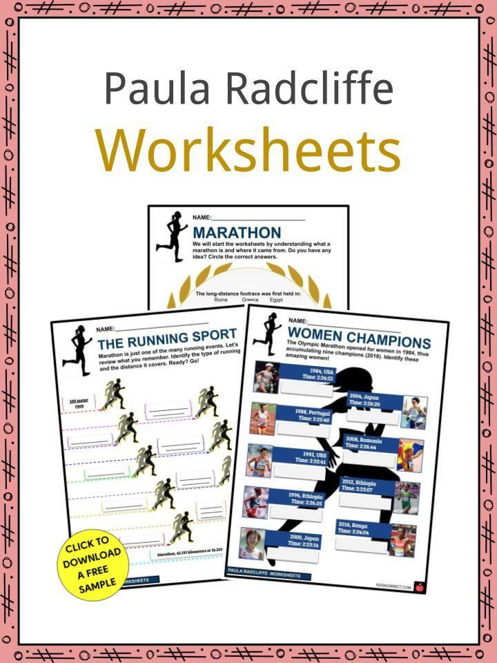 Paula Radcliffe Facts Worksheets Paula Radcliffe Worksheets Paula