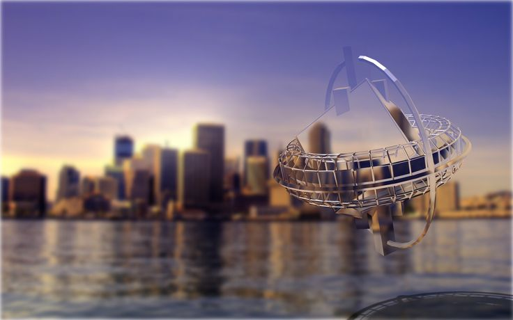 """A """"transparent"""" glass Spy Drone cruises the city and harbour - under the radar, just in case."""
