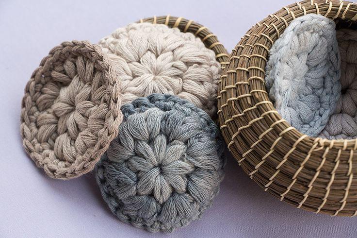 Abschminkpads aus Baumwolle (gehäkelt)