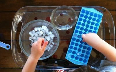 I ♥ this one!!  Great Sensory and Fine Motor Therapy Idea: Playing With Tiny Ice -  Pinned by @PediaStaff – Please Visit http://ht.ly/63sNt for all our pediatric therapy pins